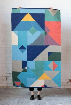 Elk Accessories - geometric kilim rug
