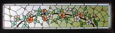"Antique American Stained Glass Windows 56""x26.5"" 2250"