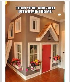 Kids bedroom idea maby? for a sleep over i know e will have 2 beds in each room but maby for fun??!