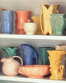 McCoy Pottery...I may have a slight obsession with this stuff.  @Cherie Wallace this is my DREAM!!