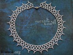 Delicate white collar of beads, a simple scheme for beginners, detailed master class with photos ~ FREE INSTRUCTIONS