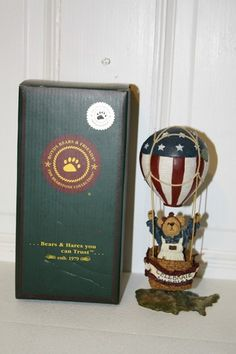 """NRFB Boyd's Special FOB 2002 Celebration America 'Betsy B. Bearamerica' figurine only removed from box for pics. style #02002-71. Base is shaped like USA. measures approx: 8 1/4"""" x 3.5"""" $16.50"""