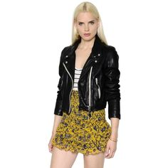 Isabel Marant Étoile Women Washed Leather Biker Jacket ($930) ❤ liked on Polyvore featuring outerwear, jackets, black, genuine leather jackets, rider leather jacket, leather motorcycle jacket, biker jacket and 100 leather jacket