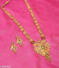 Checkout this latest Jewellery Set Product Name: *Women's One Gram Gold Jewellery Set* Country of Origin: India Easy Returns Available In Case Of Any Issue   Catalog Rating: ★4.1 (5034)  Catalog Name: Women's One Gram Gold Jewellery Set CatalogID_360420 C77-SC1093 Code: 752-2664925-567
