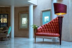 Farbenfrohes im Hotel Eden Roc in Ascona Design Hotel, Hotel Eden, Das Hotel, Chesterfield Chair, Accent Chairs, In This Moment, Hotels, Furniture, Home Decor