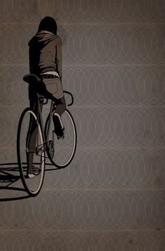 Wunderbare Fixed-Gear Bike Illustrationen von Adams Carvalho