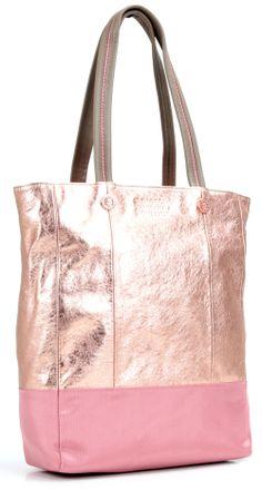 Sparkle Romance! Henkeltasche Leder rosa 35 cm
