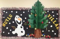 happy new year with olaf kids fun bulletin board ideas Christmas Traditions Kids, Christmas Crafts For Kids, Christmas Activities, Christmas Art, Kids Crafts, Kindergarten Classroom Decor, Preschool Bulletin Boards, Christmas Bulletin Boards, Preschool Learning Activities