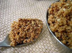 Dukkah Recipe with step by step photos. Dukkah is a simple, quick and delicious recipe made with nuts, seeds and spices. It is very healthy and nutritious. Homemade Spice Blends, Homemade Spices, Almond Recipes, Paleo Recipes, Yummy Healthy Snacks, Yummy Food, Dukkah Recipe, Granola, Israeli Food