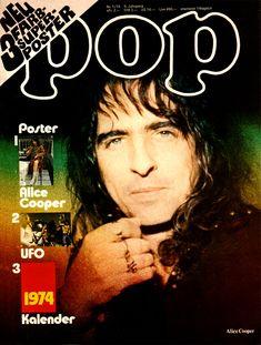 Alice Cooper. POP magazine(Germany). 1974