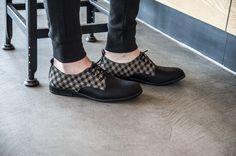 MANISTA LUBOSZ KARO Wygodne buty męskie wykonane ze skóry i tkaniny. Wyprodukowane ręcznie, w Polsce, w tradycyjny sposób w zakładzie produkcyjnym na Podhalu.
