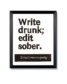 whatever you say Mr. Hemingway