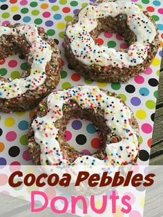 This No Bake Cocoa Pebbles Donuts recipe is a definite crowd pleaser.
