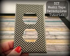 How to make a DIY washi tape switch plate. This tutorial is quick, easy, and cheap to do.