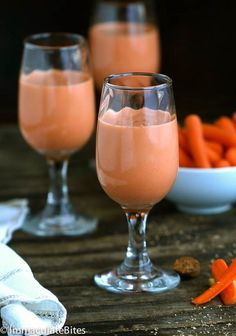 Jamaican Carrot Juice- Not your ordinary Carrot Juice , thisdelightfully creamy and Sweet Carrot Juice that is sure to please- Enjoy for Breakfast or as Cocktail.