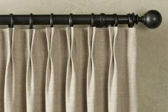 Home-Dzine - Elegant, stylish and affordable drapes. pinch pleat curtains in hessian for playroom