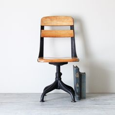antique school chair.