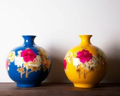 Colourful vases