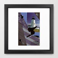 The Lighthouse Woman Framed Art Print