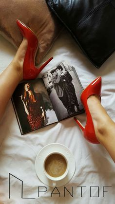 #PANTOF #goodmorning #shoes #red #leather #heels #coffe https://m.facebook.com/pantof.net/