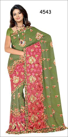 Shop SIXMETER #Casual Wear Green Silk Saree at 99trendz.com. This is a perfect addition to every women's #Sarees Collection.