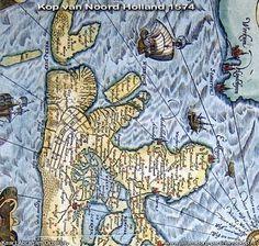 Oude kaarten van de kop van Noordholland