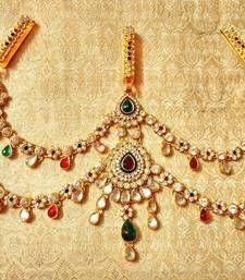 Buy Designer kundan Triple Juda waist belt kamarband wedding jewelry waist-belt online
