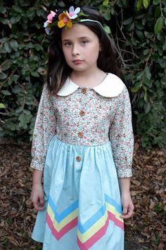 Misha Lulu Retro Moderno Dress for Tweens sz 6 & 8 & 12