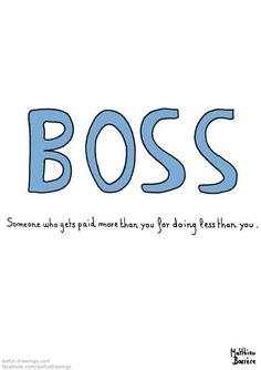 Boss humor