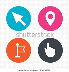 Stock Images similar to ID 173227751 - hand cursor sign icon. hand...