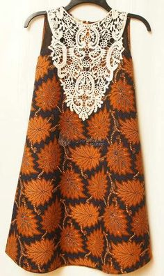 Would be nice without the hideous fake lace on the top African Fashion Ankara, Latest African Fashion Dresses, African Inspired Fashion, African Print Fashion, Ethnic Fashion, African Dresses For Kids, African Print Dresses, African Attire, African Wear