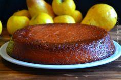 fondant caramélisé pommes et poires sur plat