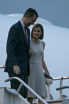 King Felipe VI (L) and Queen Letizia (R) of Spain arrive to Mexico as part of their official working visit at Mexico City International Airport on June 28, 2015 in Mexico City, Mexico.  The Spanish Monarchs are in their second state visit since the proclamation of Felipe VI as Spanish King last June 19th of 2014.