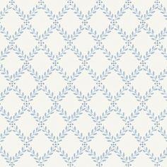 Boråstapeter Trellis Leaves Blue and White Wallpaper main image Geometric Wallpaper Murals, Wallpaper Panels, Wall Wallpaper, Pattern Wallpaper, Swedish Wallpaper, Blue And White Wallpaper, Victorian Wallpaper, Trellis Design, Kitchen Wallpaper