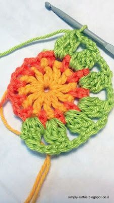 : Little Spring Mandala Pattern: Made in K-Town by Barbara - - פשוט.: Little Spring Mandala Pattern: Made in K-Town by Barbara crochê פשוט.: Little Spring Mandala Pattern: Hergestellt in K-Town von Barbara Motif Mandala Crochet, Crochet Circles, Crochet Motifs, Crochet Dishcloths, Crochet Flower Patterns, Crochet Squares, Crochet Flowers, Doily Rug, Crochet Video