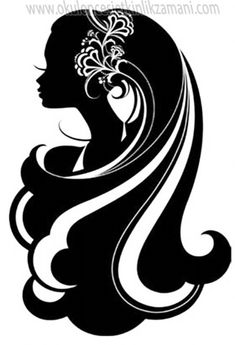 girl with long hair silhouette Silhouette Portrait, Silhouette Art, Woman Silhouette, Stencils, Digital Stamps, Pyrography, Silhouettes, Paper Art, Coloring Pages