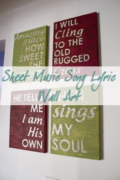 DIY Sheet Music Song Lyric Wall Art (Contributor Post) - All Things With Purpose