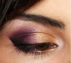 Gold and Purple Party - Click Pic for 18 Makeup Tips for Brown Eyed Girls