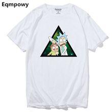 Eqmpowy Cool Rick Morty men t shirt Casual Cotton popular Anime T-shirts Cartoon tee shirt homme high quality Cotton tees(China)