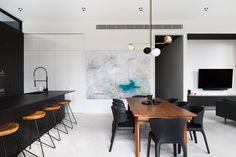 Killarra (Camberwell) by CS-A - Melbourne, VIC - Project Gallery - The Local Project Commercial Interior Design, Home Interior Design, Interior Styling, Interior Architecture, Kitchen Interior, Open Plan Kitchen Dining Living, Open Space Living, Living Spaces, Art Deco Home