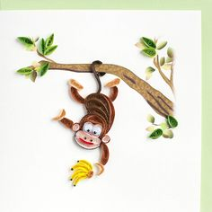 Quilled Monkey & Bananas