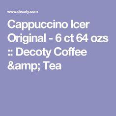 Cappuccino Icer Original - 6 ct 64 ozs :: Decoty Coffee & Tea