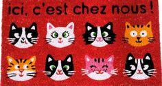 """Paillasson Coco Design """" Un Chat Sur le Toit .."""": Amazon.fr: Cuisine & Maison"""