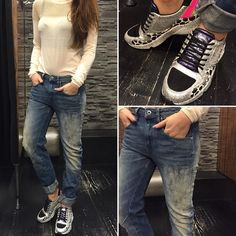 #Arc 3D low Boyfriend WMN #Gstar SHOES-#P448 SHIRT-#Numph #jeansenlifestyle #houten