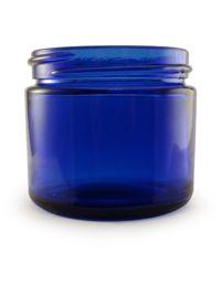 2 oz Cobalt Blue Round Glass Jar : Straight-Sided Glass Jars