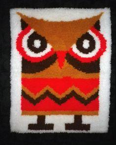 Latch hook owl