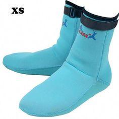 b6712b0cc57555 Men Women 3mm Thicken Neoprene Diving Socks Shoes Scuba Snorkeling Boots  Wetsuit Prevent Scratched Non-
