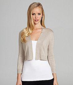 Calvin Klein Cropped Metallic Cardigan #Dillards