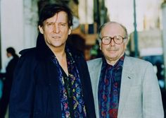 Jeremy Brett and Edward Hardwicke (Holmes and Watson off screen and on) have crazy tastes in scarves.