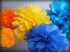 6 Tissue Paper POM POM Set  3 FREE Pom Poms // Wedding